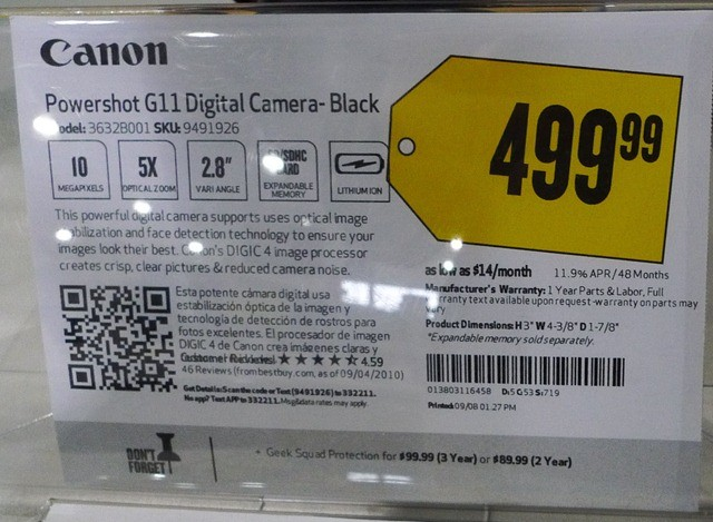 Best Buy Fact Tag