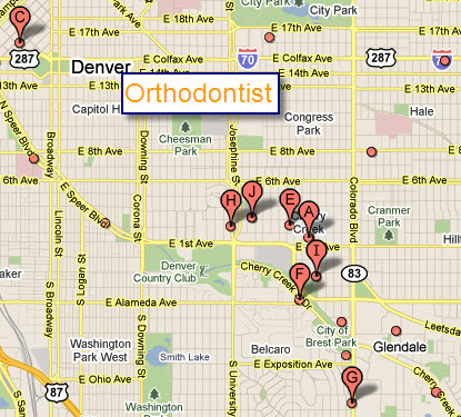 Orthodontic offices in a 3 mile radius